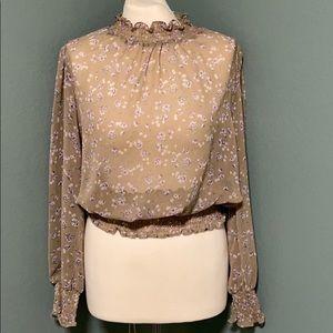 TrendyJS sheer long sleeve blouse